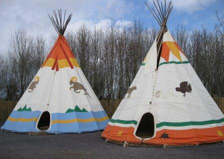Indian teepees