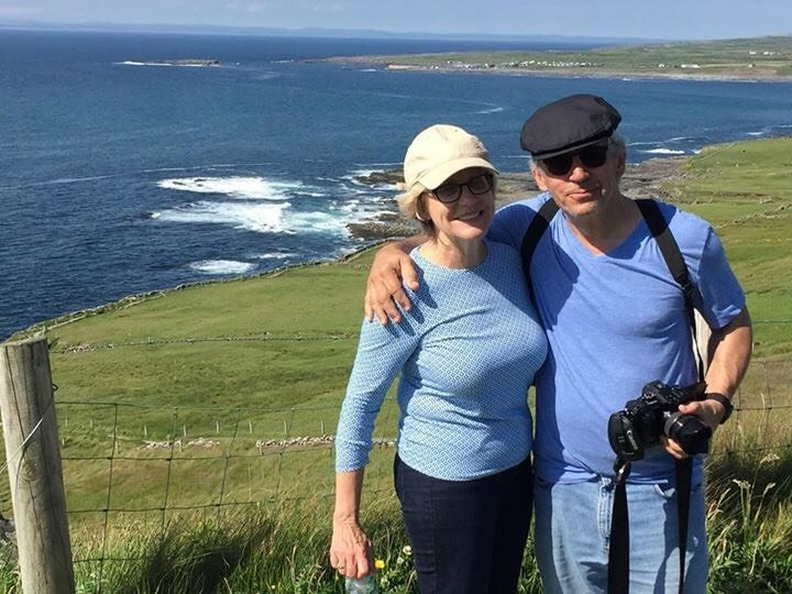 Will and Beth Avgerakis enjoying the cliff top walk from Doolin to the Cliffs of Moher